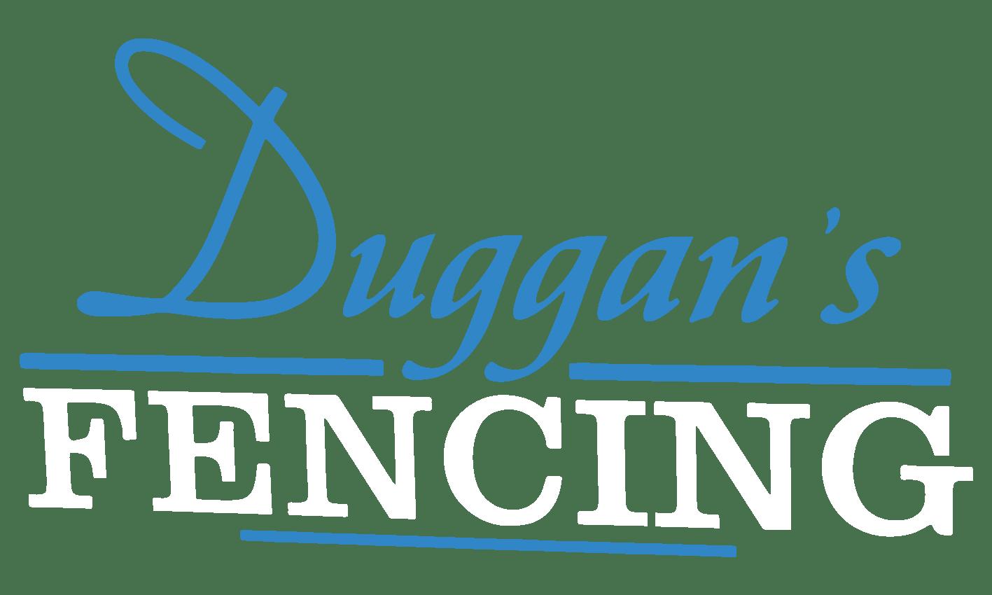 Duggans Fencing Main Logo White